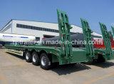 40-60ton 3 차축 확장 가능한 낮은 침대 트레일러/낮게 평상형 트레일러 반 트럭 트레일러/낮게 소년 트럭 세미트레일러