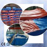 フィリピンへのカバーのための高品質のPVC/PEによって薄板にされる防水シート