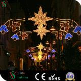 2D Décoration imperméable à l'eau de rue de Noël de motif d'éclairage LED