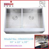 Cupcの40/60のエプロン前部ハンドメイドの洗浄流しは承認した(HMAD3322R)