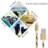 Câbles de remplissage tressés en nylon de la foudre USB pour l'iPhone