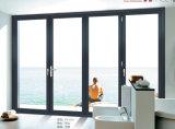 Puerta de plegamiento de aluminio del color gris agradable del diseño