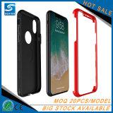 2018 produits tendants 2 dans 1 cas de luxe de téléphone mobile pour l'iPhone X