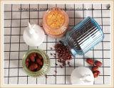 Produtos vidreiros coloridos do produto comestível com tampa cerâmica