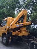 6 Roues Dongfeng 4 tonnes grue monté sur camion avec grue