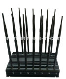 14 Bandes Jammer GSM / 3G / 4G Téléphone portable, GPS, WiFi, Lojack, 433MHz, 315MHz 868MHz Signal Jammer; Intégré 5 Ventilateur 14 Antenne Signal Blocker