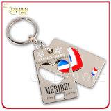 Металл Keychain логоса Debossed эмали изготовленный на заказ высокого качества мягкий