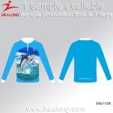 Camisola feita sob encomenda do desgaste do esporte das camisas da pesca do Sublimation