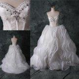 Мантия F2159 платья венчания Princess Пола Длины диаманта шарика Bridal