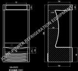 Вертикальный охлажденных витрина, безалкогольный напиток холодильный прилавок холодильник, витрина холодильник