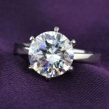 Rhodium Ring van de Juwelen van het Huwelijk van de Halfedelsteen van de Manier van het Plateren de Gouden