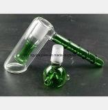 De groene Pijp van het Glas van de Hand van het Bamboe van de Filter van de Waterpijp van de Hamer