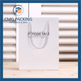White elegante Matt Promotion Paper Bag con Logo (CMG-MAY-047)
