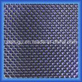 Tissu bleu de fibre de carbone de fil d'argent d'amorçage de gemme