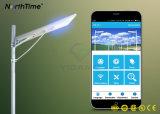 90W de elevada eficiência de controle de aplicativo de telefone Luz Rua solar integrada