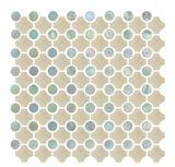 Azulejo de la piel artificial, azulejo de mosaico de cerámica, mosaico redondo