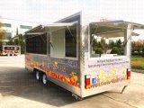 4 de Mobiele Keuken van het Sap van wielen met de Popcorn van het Verwarmingstoestel van het Voedsel van de Hamburger van Ce