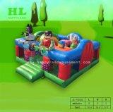 Speelplaats van de Uitsmijter van het Plattelandshuisje van het Land van de kleur de Comfortabele Opblaasbare