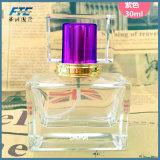 Botella rectangular de cristal de 30ml frasco pulverizador de perfume