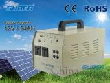 Ultra-230V sistema eléctrico solar 12V / 24Ah portátil de energía solar Nuevo Sistema Solar Generador con una función de 500W Inversor (ST-D01)