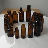 Bernsteinfarbige Glasflasche für persönliche Sorgfalt