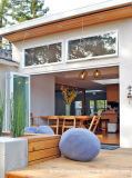 O design de portas de dobragem de alumínio Bifold portas de vidro interior