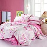 Linge de lit estampé de couverture de couette de coton