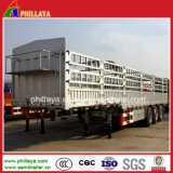 頑丈な塀の貨物は販売のためのトレーラーをトラックで運ぶ