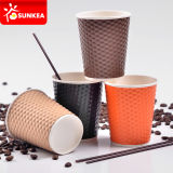 Custom a perdere Prnited Hexagon Paper Cup con Lid
