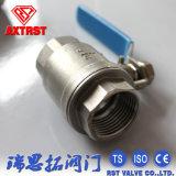 Válvula de esfera de duas partes portuária cheia da flutuação de ISO/Ce