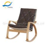 Для использования вне помещений для использования внутри помещений мебелью из дерева поворотное кресло с PU подушки сиденья