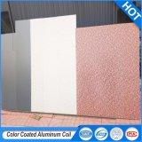 1100 H24 3.0mm d'épaisseur du panneau en aluminium avec revêtement de couleur pré-peint pour mur