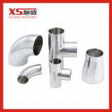 Het Hygiënisch-sanitaire Gelijke T-stuk van het roestvrij staal Ss304