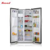 нержавеющая сталь хорошего качества бок о бок, холодильник с мини-бар