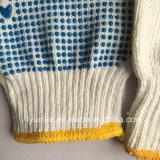 Защитные перчатки для работника ПВХ пунктирной хлопок перчатки