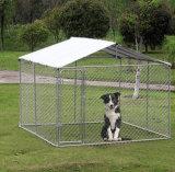 De grote Kooi van de Schaduw van de Kennel van het Huis van de Looppas van de Hond van de Link van de Ketting met de Dekking van het Dak