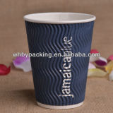 Customized Logo gedruckt Ripple Wand Cup