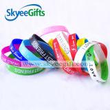 Wristband del silicone di marchio personalizzato corpo di modo