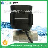 Dn20 robinet à tournant sphérique motorisé de moteur électrique d'acier inoxydable du jardin Ss304 Cr201