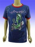عامة علامة تجاريّة يطبع ترويجيّ [160غسم] قطن قصير كم [ت] قميص
