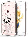 4 Rugdekking van het Bergkristal TPU van de Gevallen van stijlen de Leuke Dierlijke voor iPhone 6s Plus/6 plus de Panda van de Kat