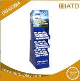 Étalage d'étage rotatoire de carton avec des étagères pour le baume médicamenté de Woodlock, présentoir créateur de carton de la Chine