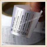 Ярлык печатание экрана Slik изготовленный на заказ для одежды
