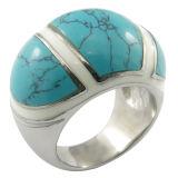925 zilveren Grote Turkooise Ring