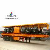20FT 40FT Behälter-Transport-LKW-halb Flachbettschlußteil