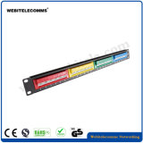 1U de 19 pulgadas Patch Panel 24 puertos de red UTP Cat5e con coloridas tipo Modular Keystone