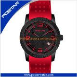 シリコーンバンド高品質の人のための工場水晶腕時計