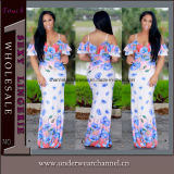 2018 Fleur européenne Sexy Dernière mode Imprimer Lady robe (TLL5035)