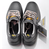 Exportación zapatos de cuero genuinos de seguridad para hombre L-7246