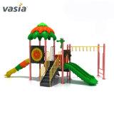 カスタマイズされた子供公園の運動場の振動およびスライドの子供の屋外の運動場